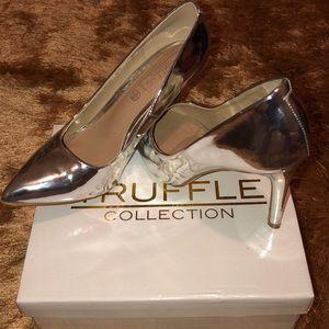Silver Metallic Heels